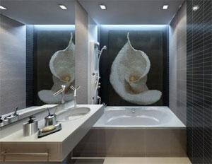 Для ванной комнаты в японском стиле