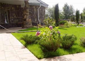 Дизайн участка загородного дома фото